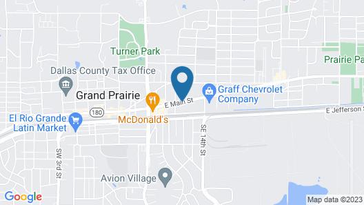 Howard Johnson by Wyndham Grand Prairie Near Lone Star Park Map