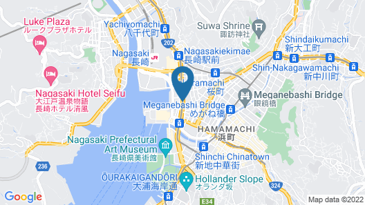 S Peria Hotel Nagasaki Map