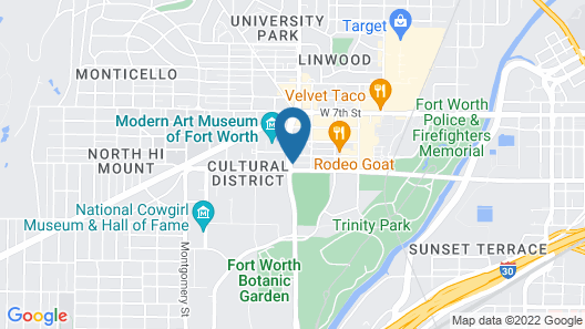 Home2 Suites by Hilton Fort Worth Cultural District Map