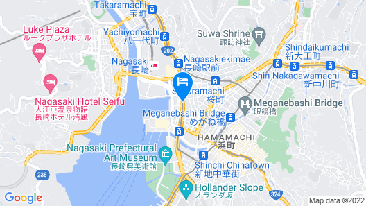 Toyoko Inn Nagasaki Ekimae Map