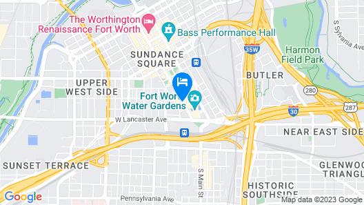 Omni Fort Worth Hotel Map
