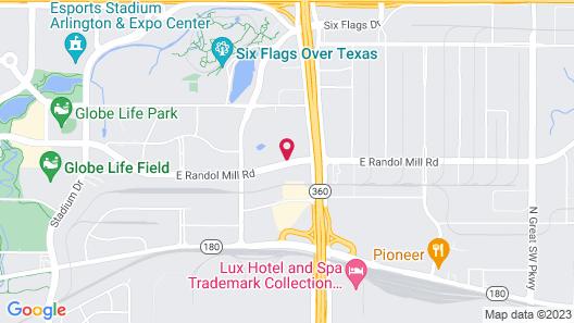 Four Points by Sheraton Dallas Arlington Entertainment District Map