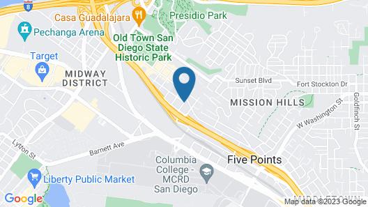 Fairfield Inn & Suites San Diego Old Town Map