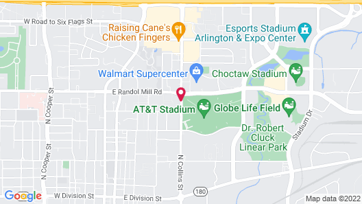 817 Hotel Days Inn by Wyndham ATT Stadium/Texas Live Map