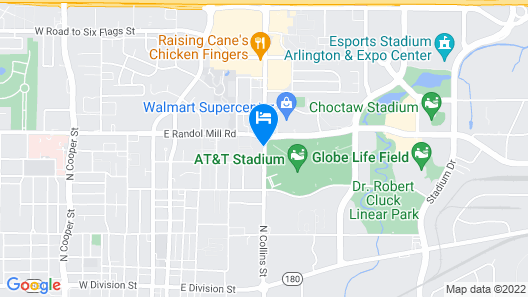 817 Hotel Days Inn by Wyndham ATT Stadium/Texas Live Map
