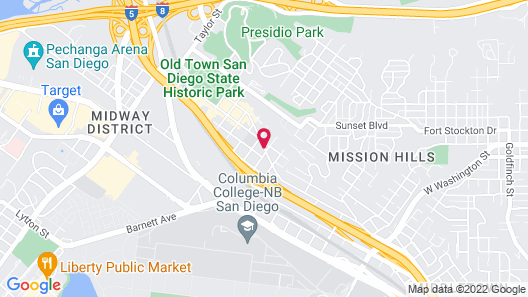 Holiday Inn Express San Diego Airport - Old Town Map