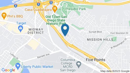 Old Town Western Inn & Suites Map