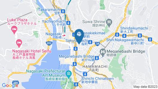 Dormy Inn Nagasakiekimae Hot Springs Map