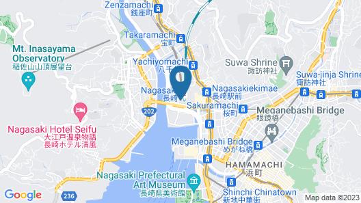 Hilton Nagasaki Map