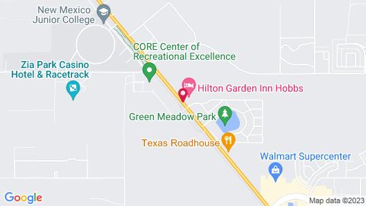 Hilton Garden Inn Hobbs Map