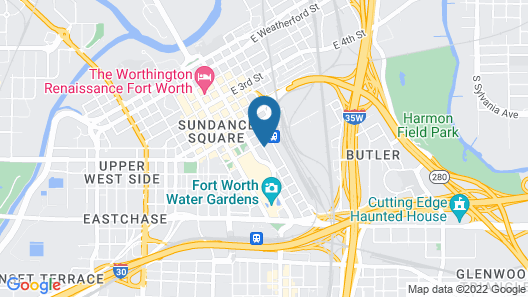Hampton Inn & Suites Fort Worth Downtown Map