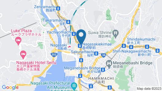 Coruscant Hotel Nagasaki Station 2 Map