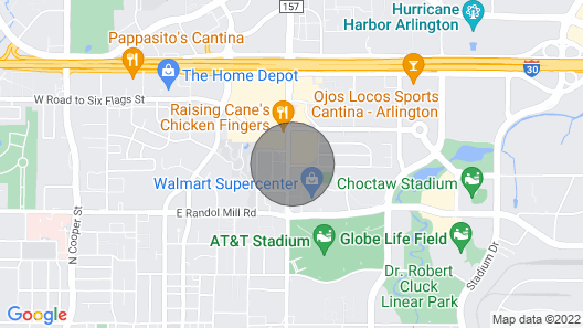 Wow Wow 3minute Walking Distance to Dallas Cowboy Stadium/ Fun and More Fun ? Map