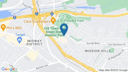 Best Western Plus Hacienda Hotel Old Town Map