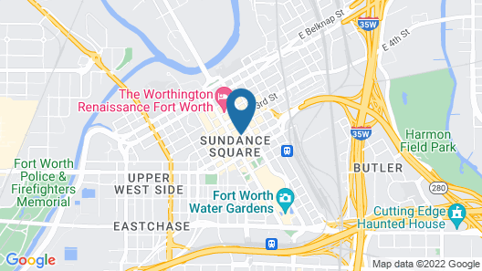 AC Hotel Fort Worth Downtown Map