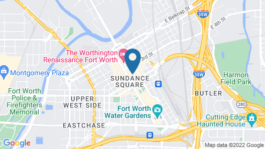 Courtyard by Marriott Fort Worth Downtown/Blackstone Map