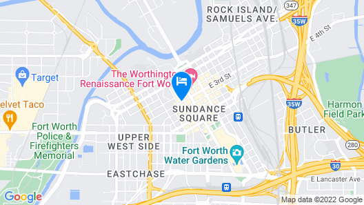 Aloft Fort Worth Downtown Map
