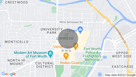 Fort Worth HOT Location Walk to Shopping/ Eating! Map