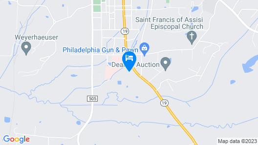 Western Motel Philadelphia Map