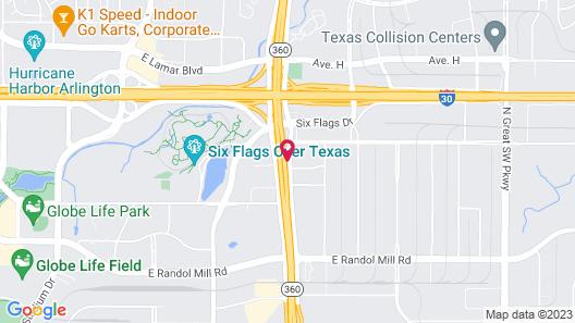 Red Roof Inn Arlington - Entertainment District Map