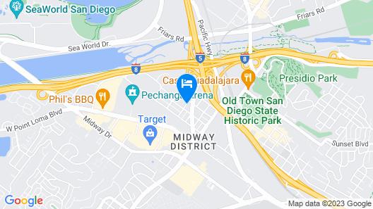 Motel 6 San Diego, CA – near Sea World Map