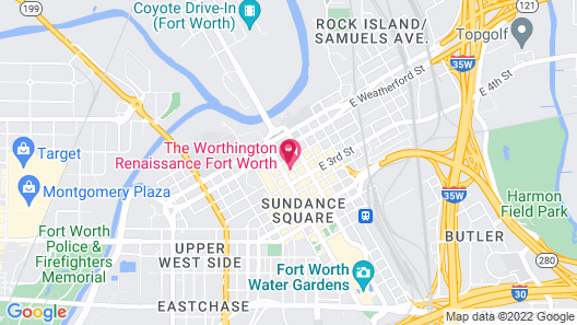 The Worthington Renaissance Fort Worth Hotel Map