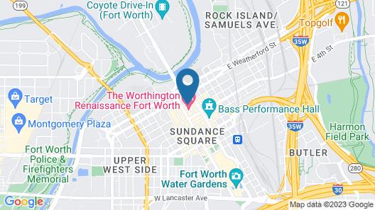 The Worthington Renaissance Fort Worth Hotel Map