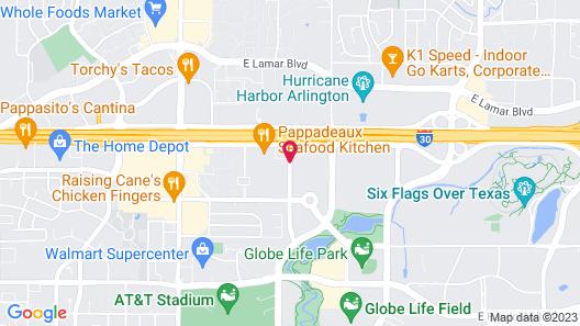 Courtyard by Marriott Dallas Arlington/Entertainment Dist. Map