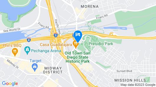 Hilton Garden Inn San Diego Old Town/SeaWorld Area Map