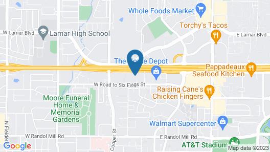 Comfort Suites Arlington - Entertainment District Map