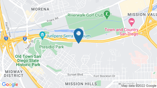 Homewood Suites by Hilton San Diego Hotel Circle/SeaWorld Area Map