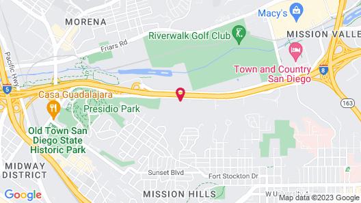 Hampton Inn San Diego/ Mission Valley Map