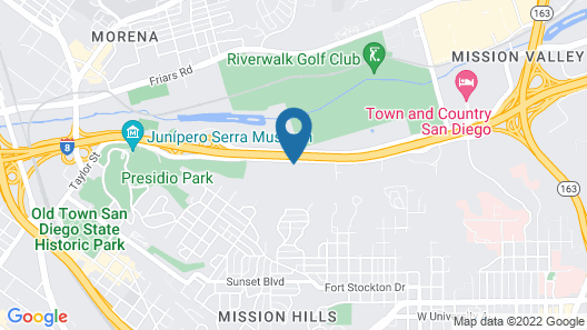 Extended Stay America Suites San Diego Hotel Circle Map