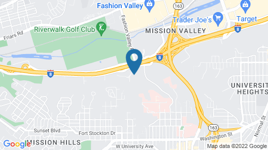 Holiday Inn Express & Suites San Diego - Mission Valley Map