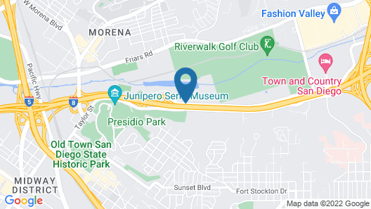 Crowne Plaza San Diego - Mission Valley Map