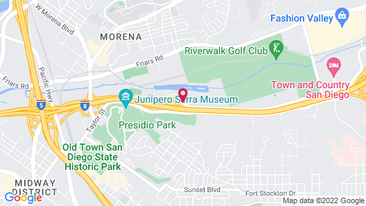 Motel 6 San Diego, CA - Hotel Circle - Mission Valley Map