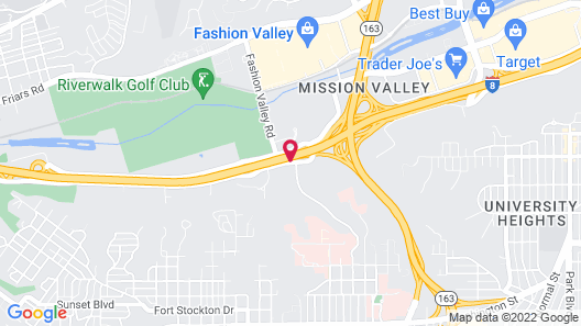 Courtyard by Marriott San Diego Mission Valley/Hotel Circle Map