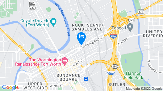 TownePlace Suites by Marriott Fort Worth Downtown Map