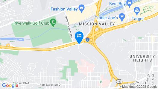Days Inn by Wyndham San Diego Hotel Circle Map