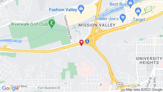 Super 8 by Wyndham San Diego Hotel Circle Map