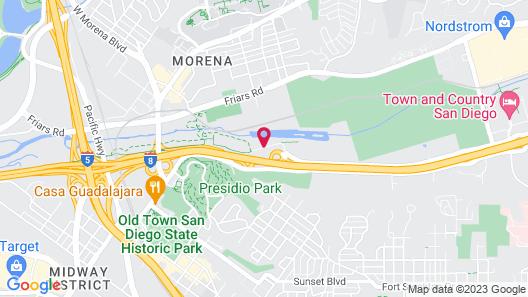Comfort Inn & Suites San Diego - Zoo SeaWorld Area Map