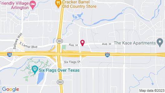 Crowne Plaza Suites Arlington - Ballpark - Stadium, an IHG Hotel Map