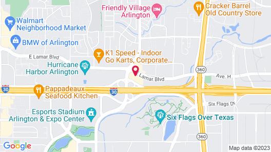 Aloft Dallas Arlington Entertainment District  Map