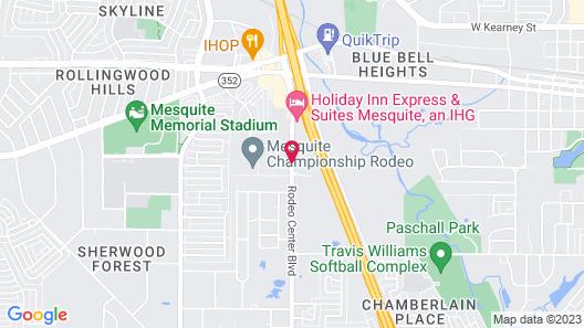 Hampton Inn & Suites Dallas-Mesquite Map