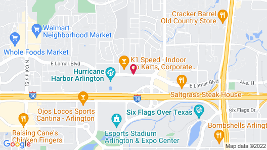 SpringHill Suites Dallas Arlington North Map