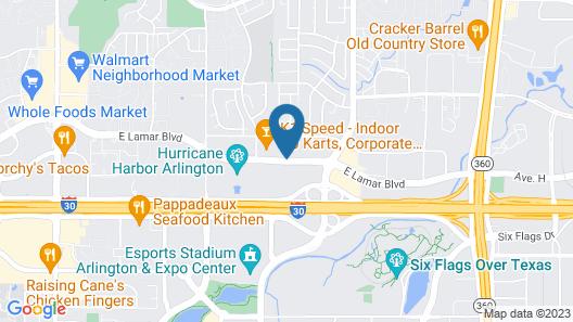 SpringHill Suites Dallas Arlington North Map