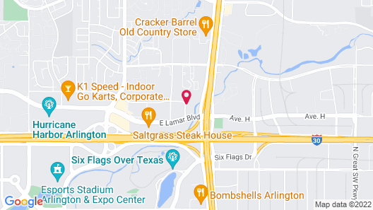 Holiday Inn Express And Suites Arlington North - Stadium Area, an IHG Hotel Map