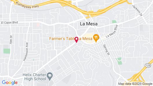 Lodge of La Mesa - Adults Only Map