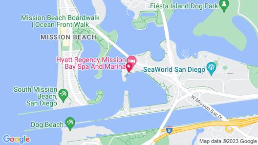 Hyatt Regency Mission Bay Spa and Marina Map
