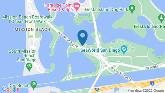 The Dana on Mission Bay Map